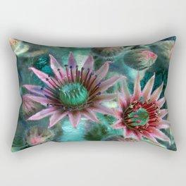 Succulents Flower Garden Rectangular Pillow