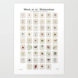 Weed, et al., Wednesdays: 52 Weeks of Botanical Watercolor Paintings Art Print