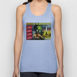 Horror Sci-Fi Movie Vintage Poster - invasion Unisex Tank Top