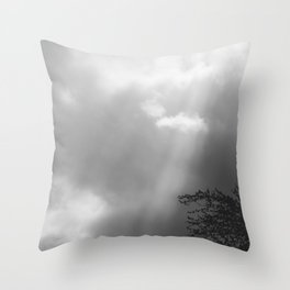 Dramatic Sunbeams #blackwhite Throw Pillow
