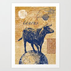 taurus | stier Art Print