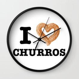 I Love Churros  Wall Clock