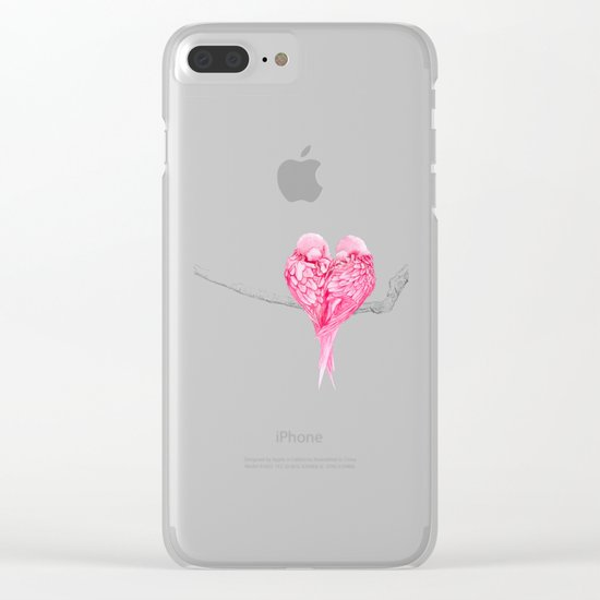 Birds Love Clear iPhone Case