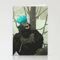 holographic Stationery Cards featuring Uneasy Lies the Head That Wears the Holographic Crown by Alex Craig
