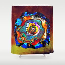 small slice Shower Curtain