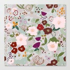 Rainy Day Floral Canvas Print