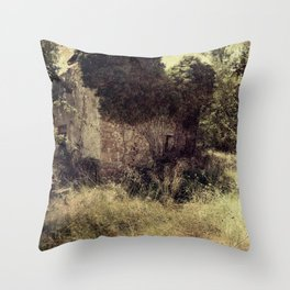 Vintage forgotten town Throw Pillow