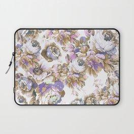 Bohemian vintage rustic brown lavender floral Laptop Sleeve