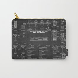 COCKTAIL print Carry-All Pouch
