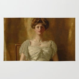 """John Collier """"Portrait of The Hon. Mrs Harold Ritchie"""" Rug"""