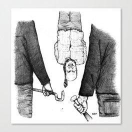 Explication Avec Le Banquier Canvas Print