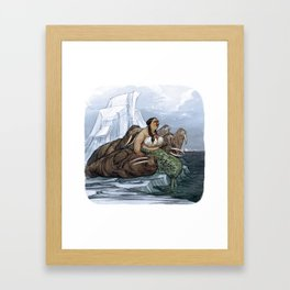 The Arctic Walrus Whisperer Framed Art Print