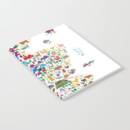 Animal Map of Scotland for children and kids Notebook