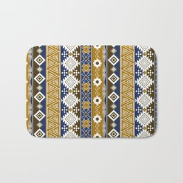 Colorful Aztec pattern with gold. Bath Mat