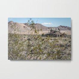 Hidden Treasure | Abandoned Saloon -Rhyolite, Nevada Metal Print