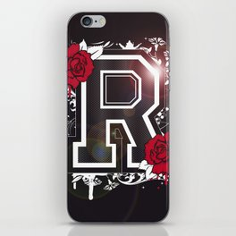 "Letter ""R"" with roses iPhone Skin"