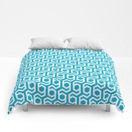 Modern Hive Geometric Repeat Pattern Comforters