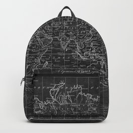Black and White World Map (1799) Inverse Backpack
