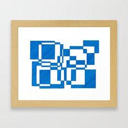 Blue Squares Framed Art Print