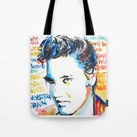 elvis Tote Bags featuring Elvis by Phil Fung