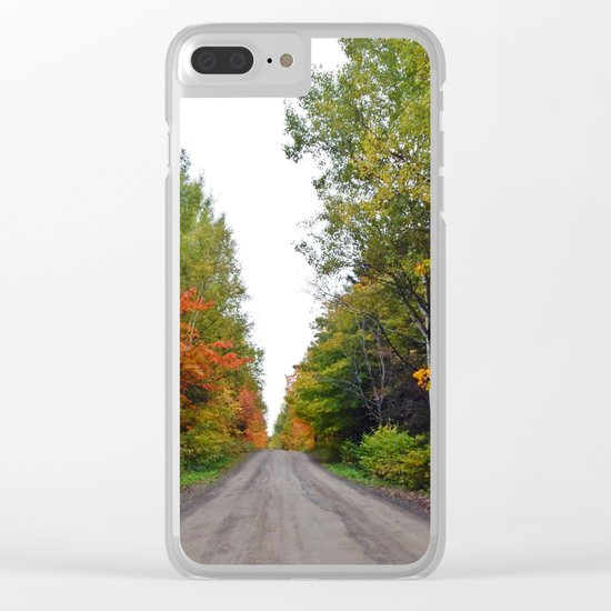 Forest Road in the Fall Clear iPhone Case