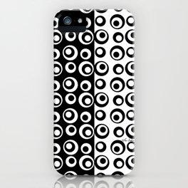 Mod Love Black/White Dots Circles iPhone Case