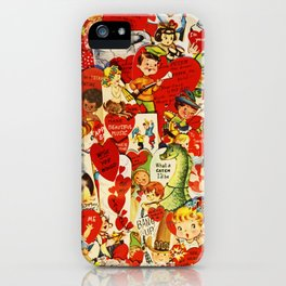 Vintage Valentine Cards - Love, Humor, Funny, Mermaids, Seahorse, Red Hearts,Couples, Reto Inspired iPhone Case