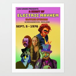 A Night of Electric Mayhem Art Print