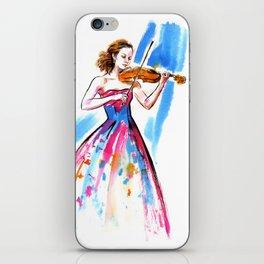 Girl playing the violin iPhone Skin