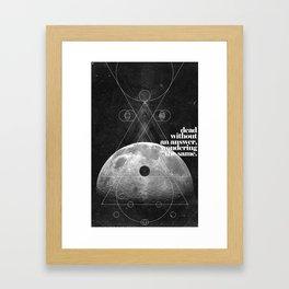 Answer Framed Art Print
