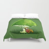 bookworm Duvet Covers featuring BookWorm by Alberto Arni
