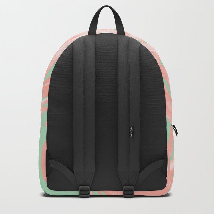 Island Love Seashell Pink + Mint Green Backpack