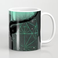 northern lights Mugs featuring Northern Lights by angrymonk