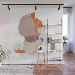 Winter Fox Drink Wall Mural