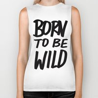 toddler Biker Tanks featuring Born to Be Wild ~ Typography by Leah Flores