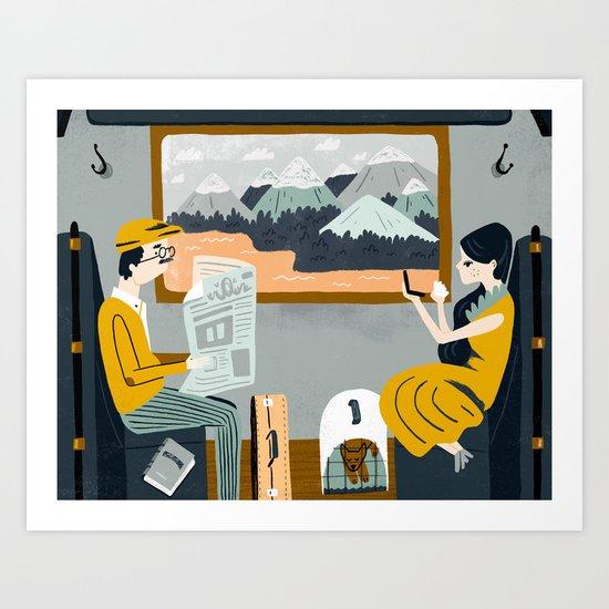 By Train Art Print