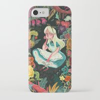 wonderland iPhone & iPod Cases featuring Alice in Wonderland by Karl James Mountford