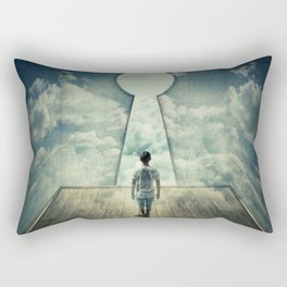 keyhole in the wall Rectangular Pillow
