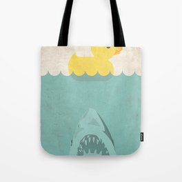 Jaws Rubber Duck Quack  Tote Bag