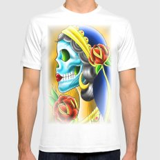 Skull Candy  MEDIUM Mens Fitted Tee White