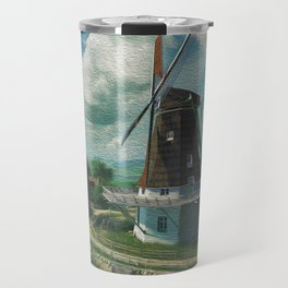 Windmill In Little Village At Waterfont Ultra HD Travel Mug
