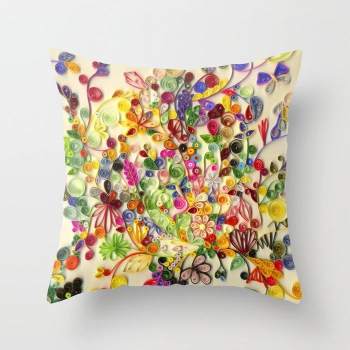 My little garden Throw Pillow