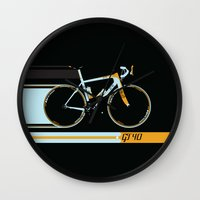 bike Wall Clocks featuring Bike by Wyatt Design