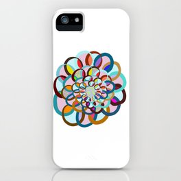 Overlapping Circles with a Pop of Vibrancy iPhone Case