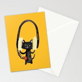 I Love Huge Headphone Stationery Cards