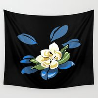 magnolia Wall Tapestries featuring Magnolia by Patricia Howitt