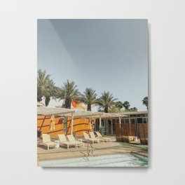 Pool Side Metal Print