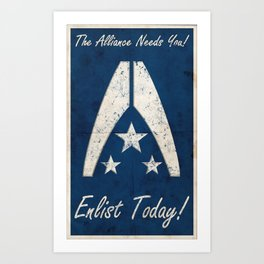 The Alliance Needs You! Art Print