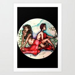 Rose Rising Art Print