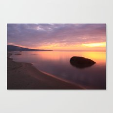 Fiery Sunset over the Porkies Canvas Print